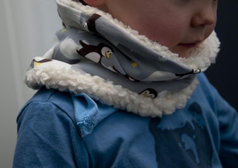 Halssocke aus Pinguinstoff von Stoffwelten