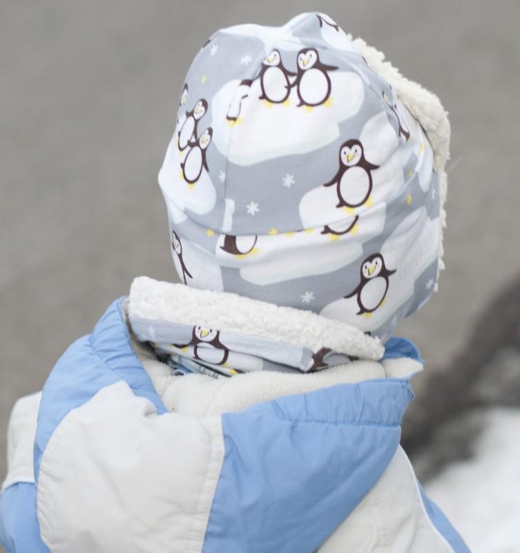 Fliegermütze aus Pinguinstoff von Stoffwelten